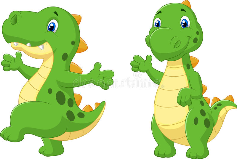 动画片逗人喜爱的恐龙 向量例证