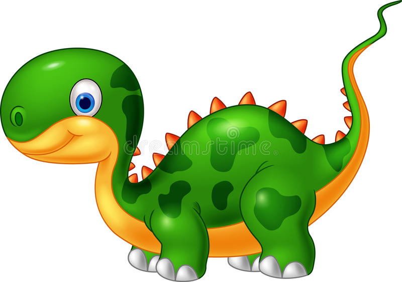 动画片逗人喜爱的恐龙 库存例证
