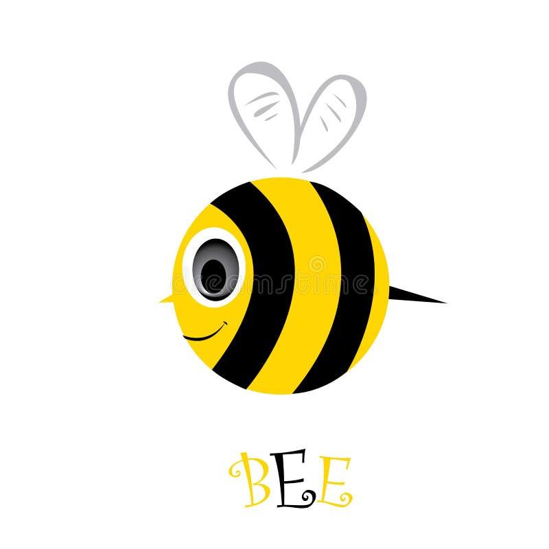 动画片逗人喜爱的明亮的小蜂。传染媒介例证。 皇族释放例证