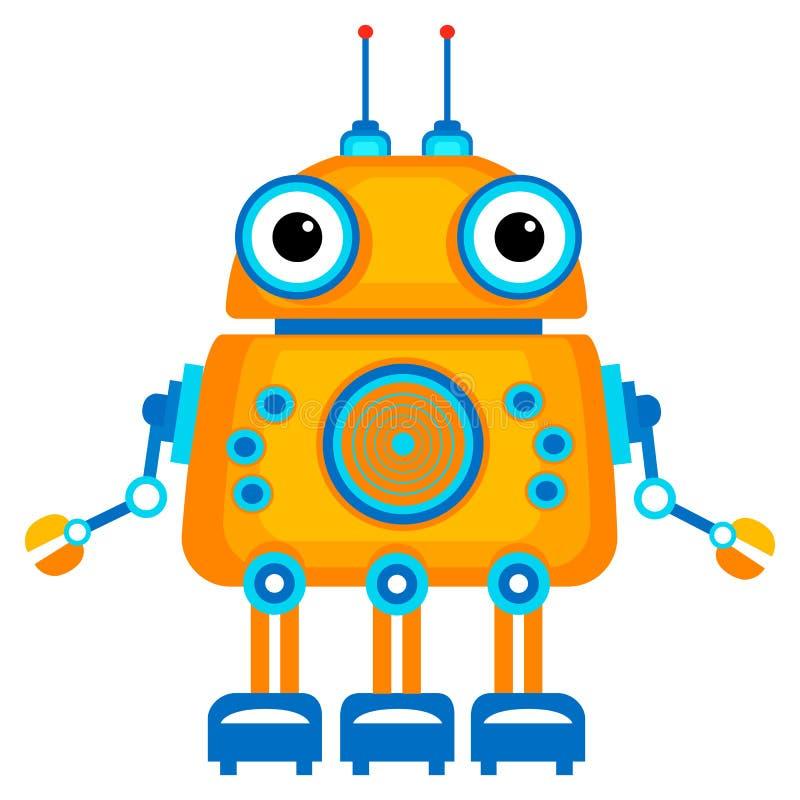 动画片逗人喜爱的机器人. 机器人, 天线.