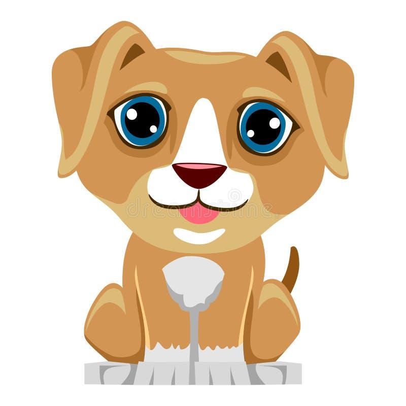 动画片逗人喜爱的狗 向量例证