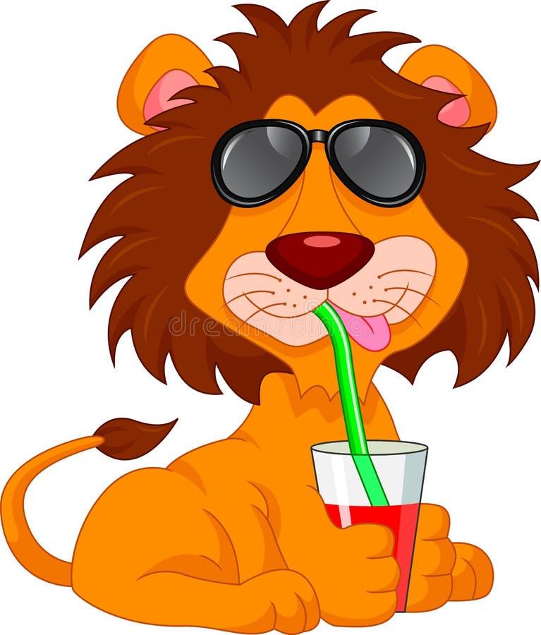 动画片逗人喜爱的狮子 皇族释放例证