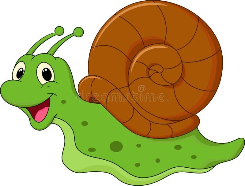 动画片逗人喜爱的蜗牛 皇族释放例证