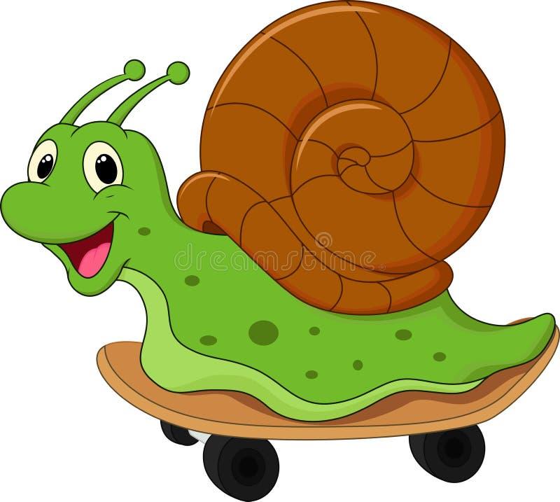 动画片逗人喜爱的蜗牛 库存例证