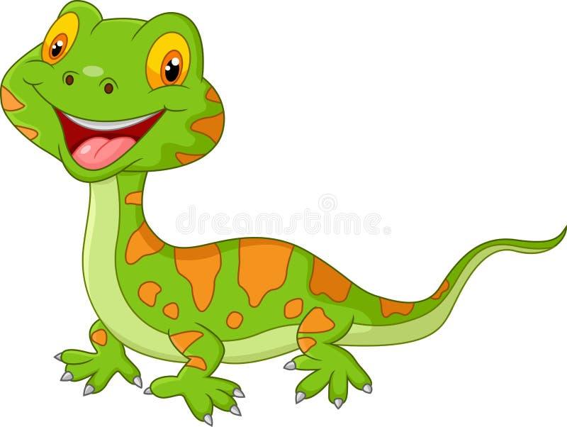 动画片逗人喜爱的蜥蜴 库存例证