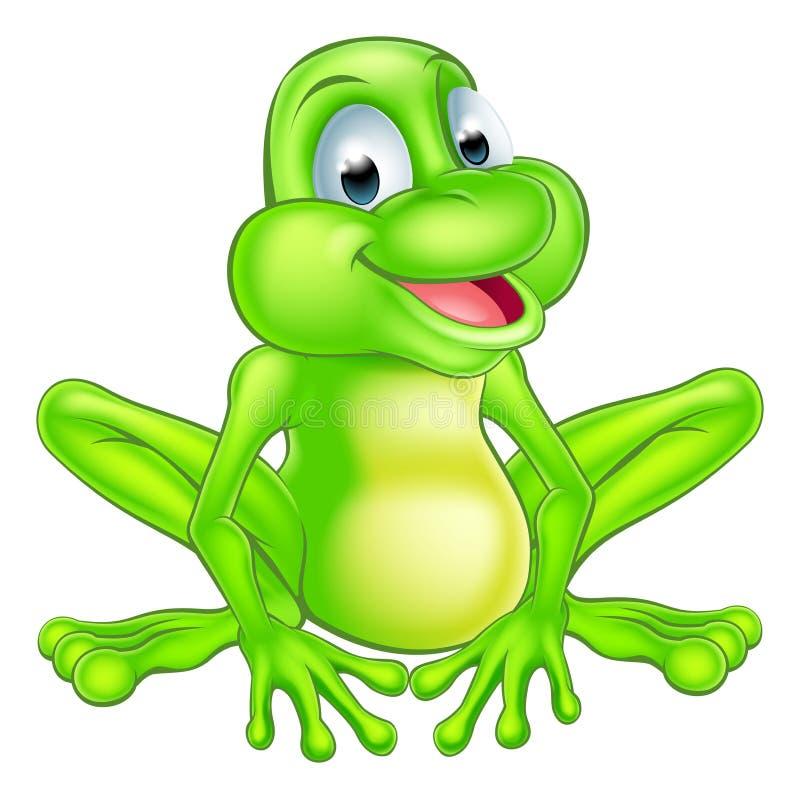 动画片逗人喜爱的青蛙 库存例证