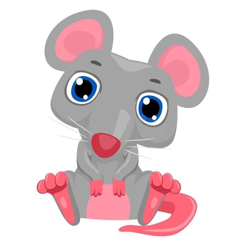 动画片逗人喜爱的鼠标 皇族释放例证