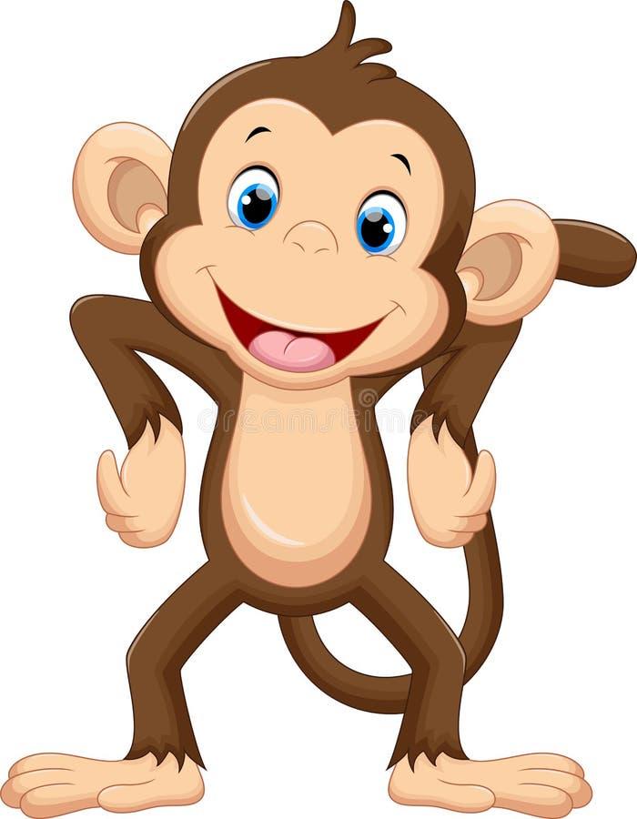动画片逗人喜爱的猴子 皇族释放例证