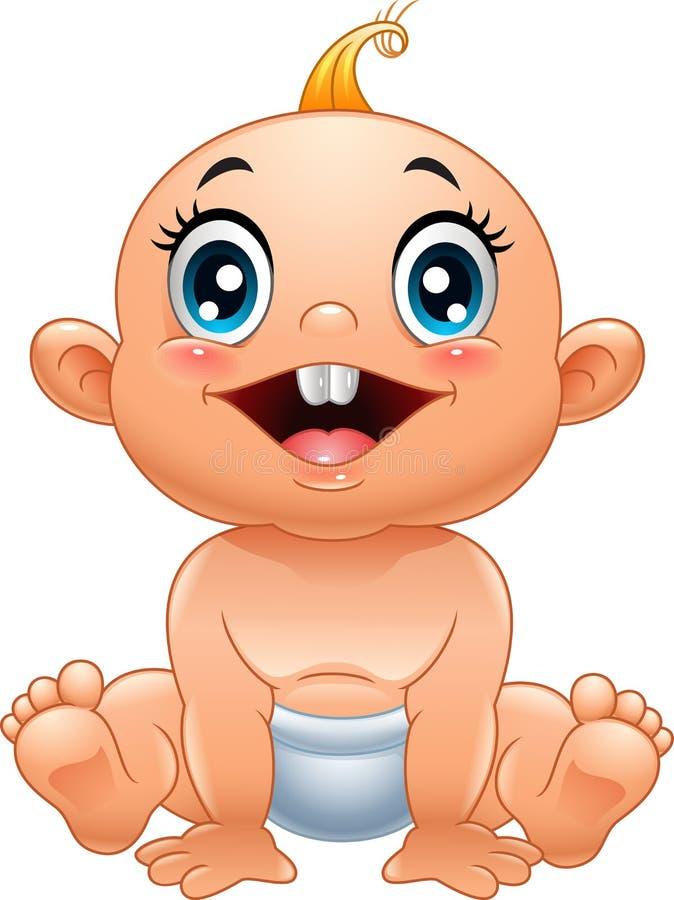 动画片逗人喜爱的婴孩 皇族释放例证