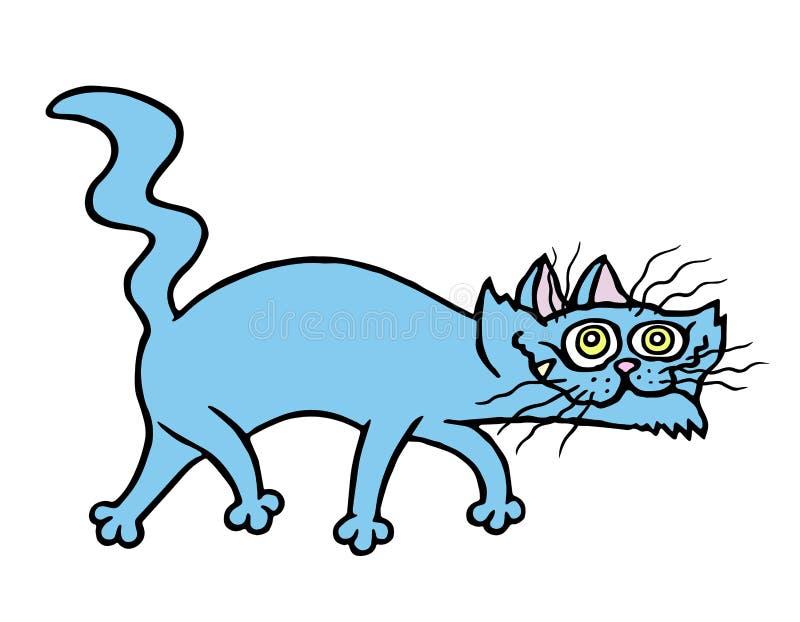 动画片邪恶的猫牺牲者 也corel凹道例证向量 皇族释放例证