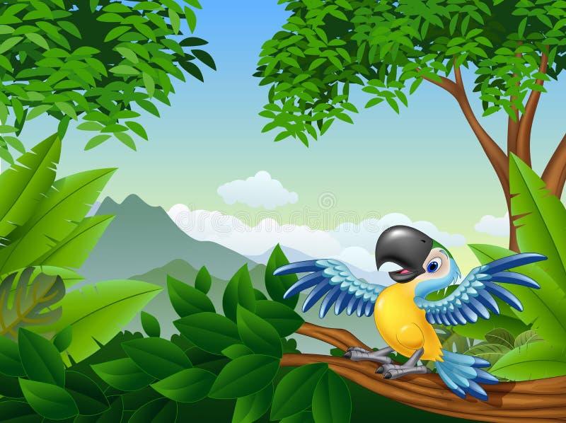动画片金刚鹦鹉在密林 皇族释放例证