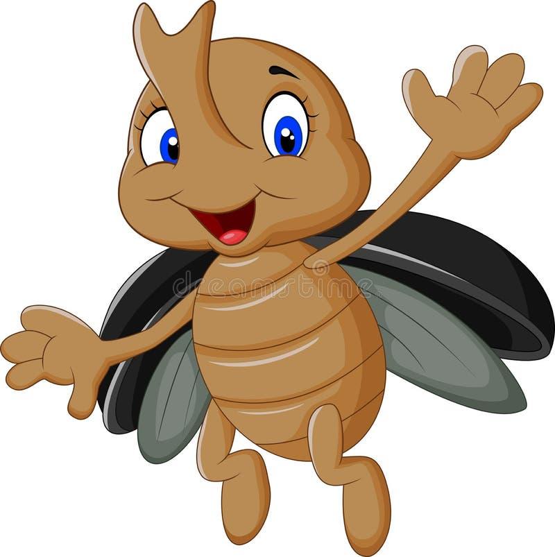 动画片锹虫 库存例证