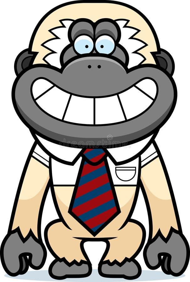 动画片长臂猿领带 向量例证