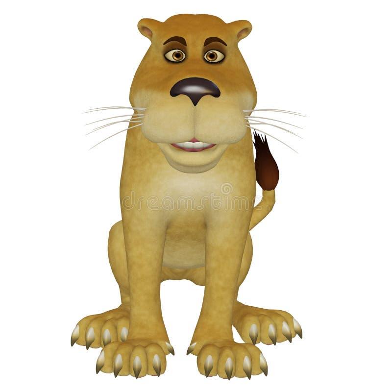 动画片雌狮 库存例证