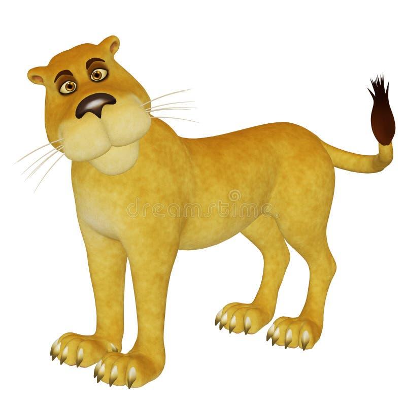动画片雌狮 皇族释放例证