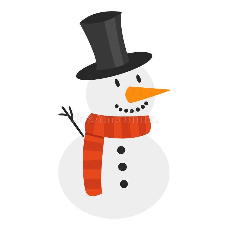 动画片雪人字符 向量例证
