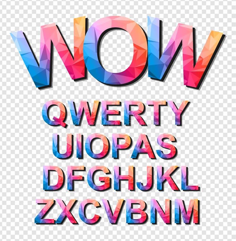 动画片项目的五颜六色的滑稽的简单的字体,儿童事件海报 库存例证