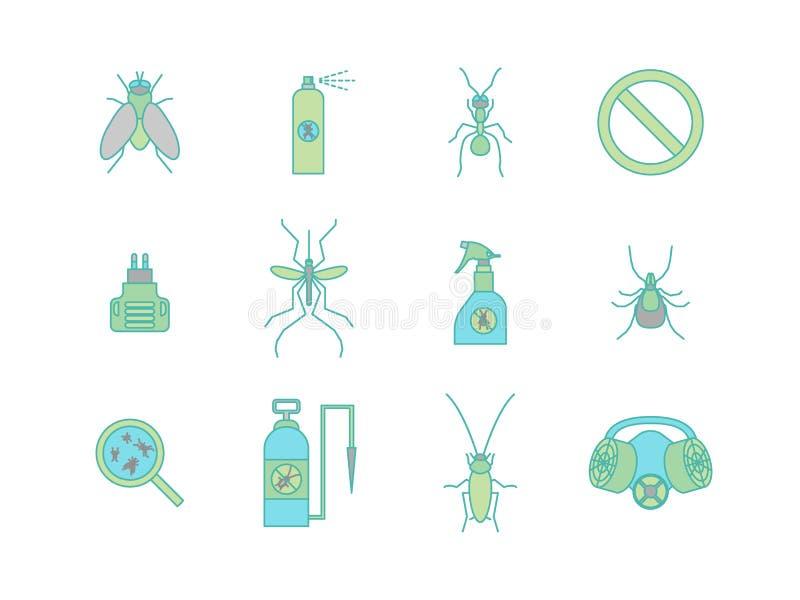 动画片颜色没有被设置的昆虫 向量 向量例证