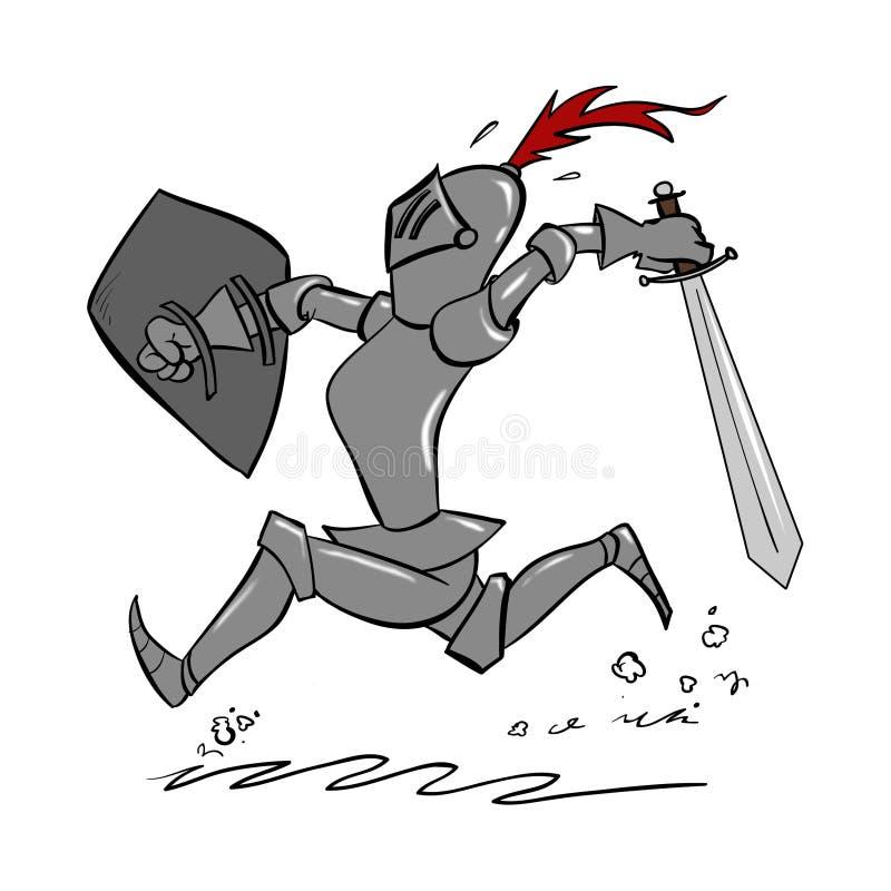 动画片骑士 库存图片