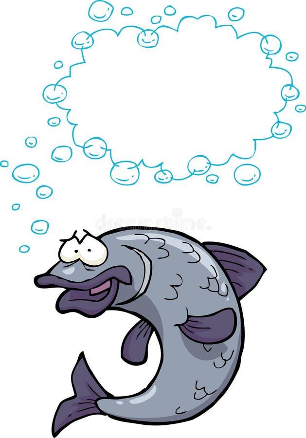 动画片鱼泡影 库存例证