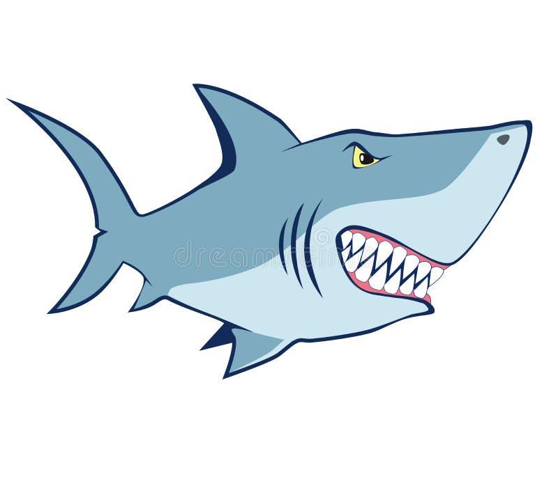 动画片鲨鱼。传染媒介例证 库存例证