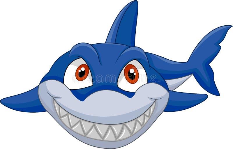 动画片鲨鱼微笑 皇族释放例证