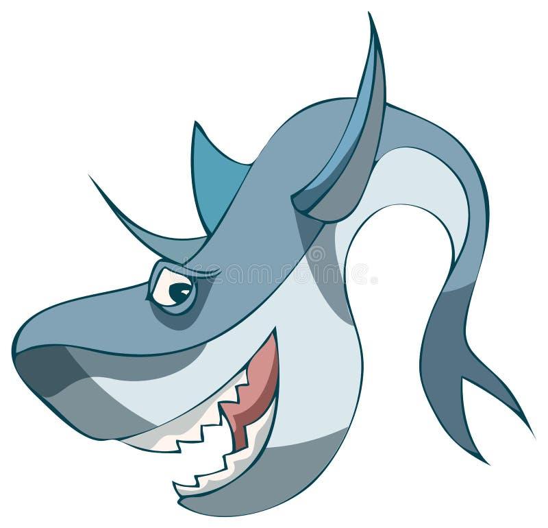 动画片鲨鱼,传染媒介例证 向量例证