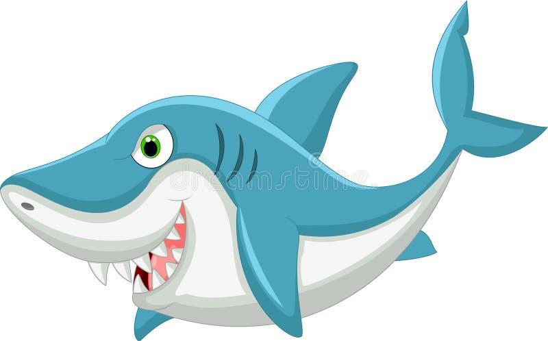 动画片鲨鱼 向量例证