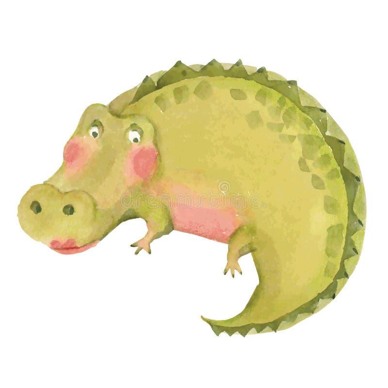 动画片鳄鱼例证 库存例证