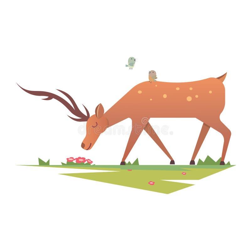 动画片鹿传染媒介动物 皇族释放例证
