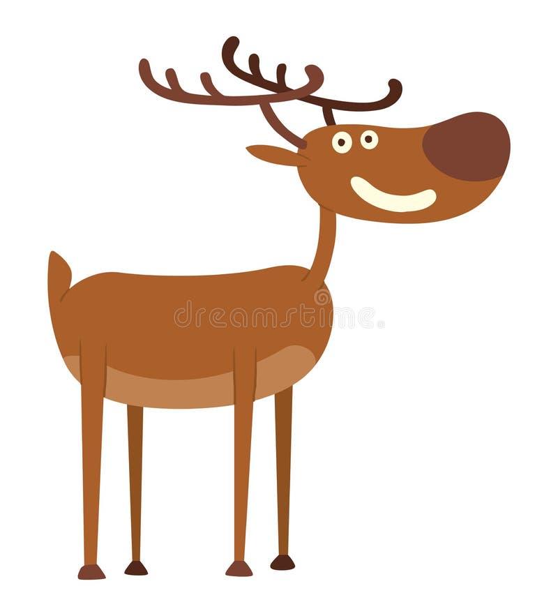 动画片鹿传染媒介字符 向量例证