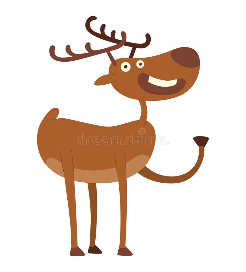 动画片鹿传染媒介字符 皇族释放例证