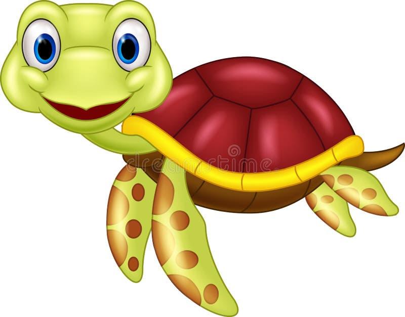 动画片婴孩逗人喜爱的乌龟 向量例证