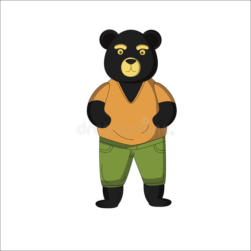 动画片黑熊 免版税库存照片