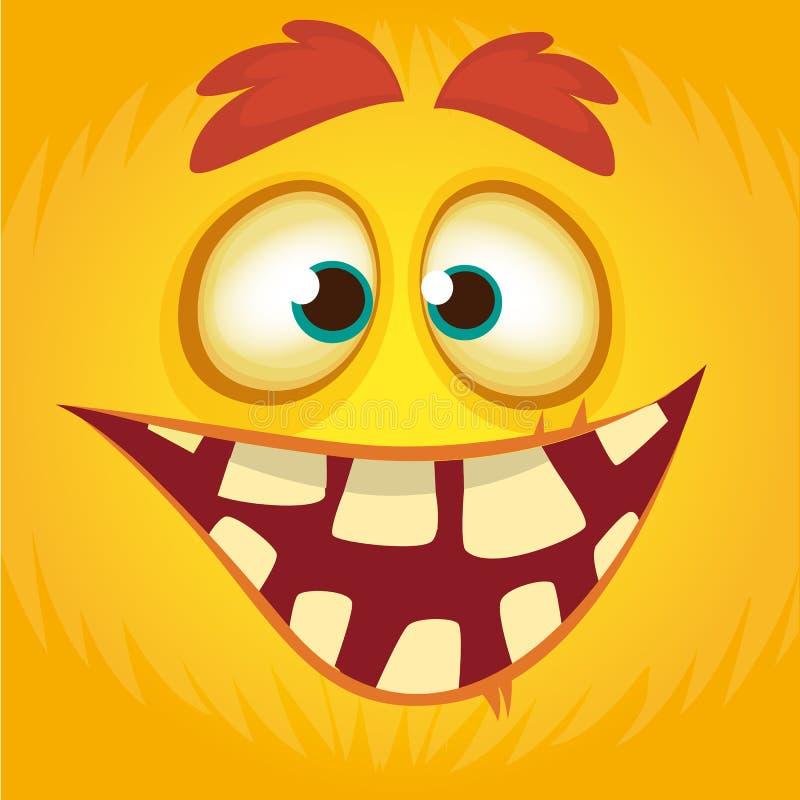 动画片滑稽的妖怪 万圣夜妖怪面孔具体化的传染媒介例证 库存例证