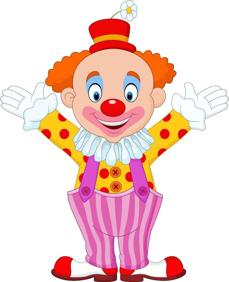 动画片滑稽的小丑 向量例证