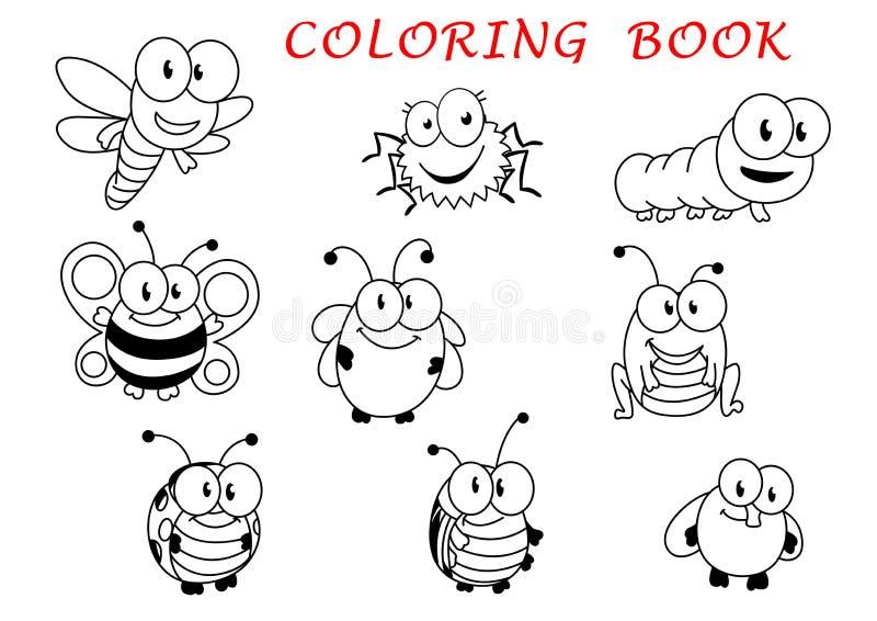 动画片滑稽的概述昆虫字符 向量例证