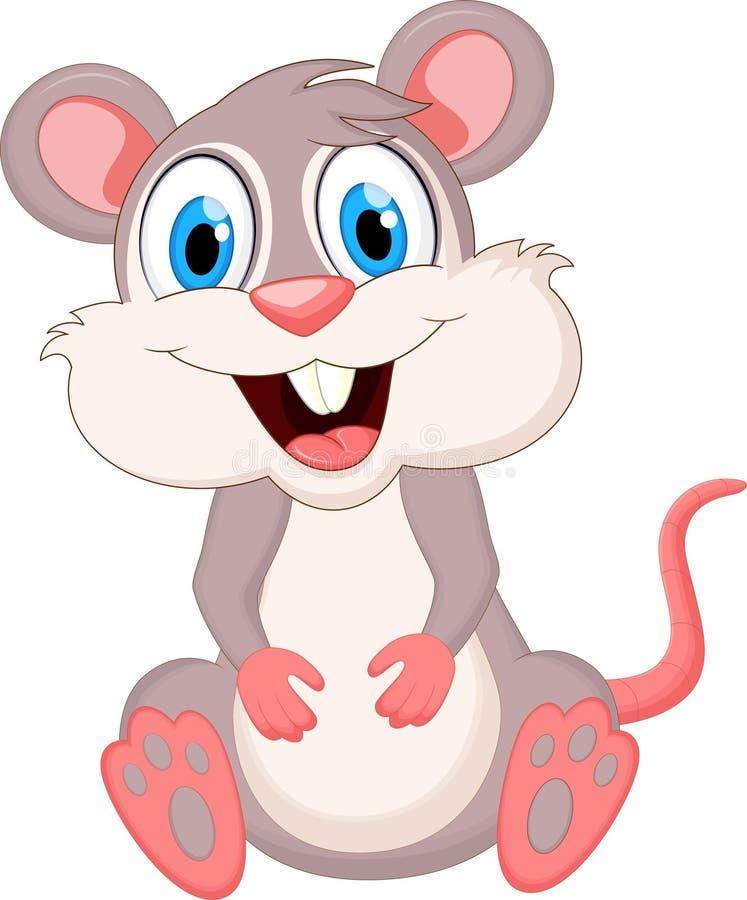 动画片滑稽的鼠标 向量例证