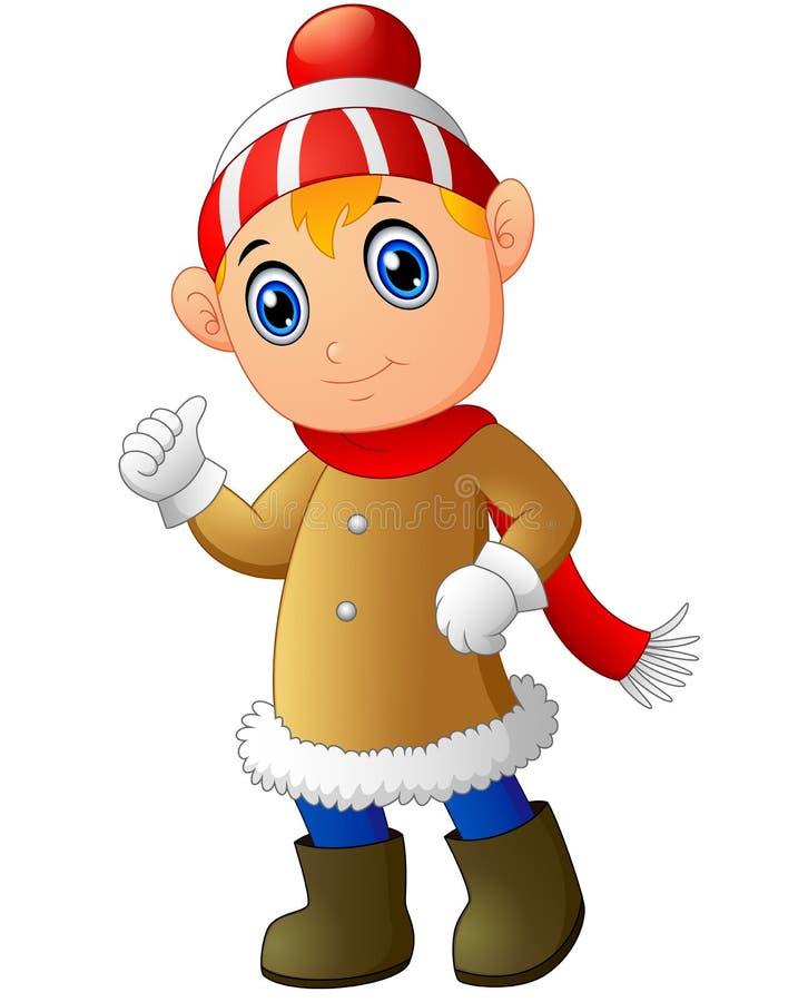 动画片给赞许的圣诞节矮子 库存例证