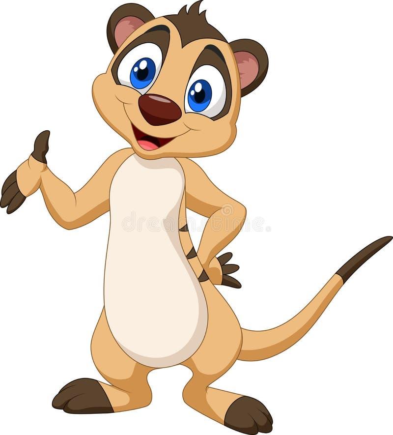 动画片meerkat摆在 皇族释放例证