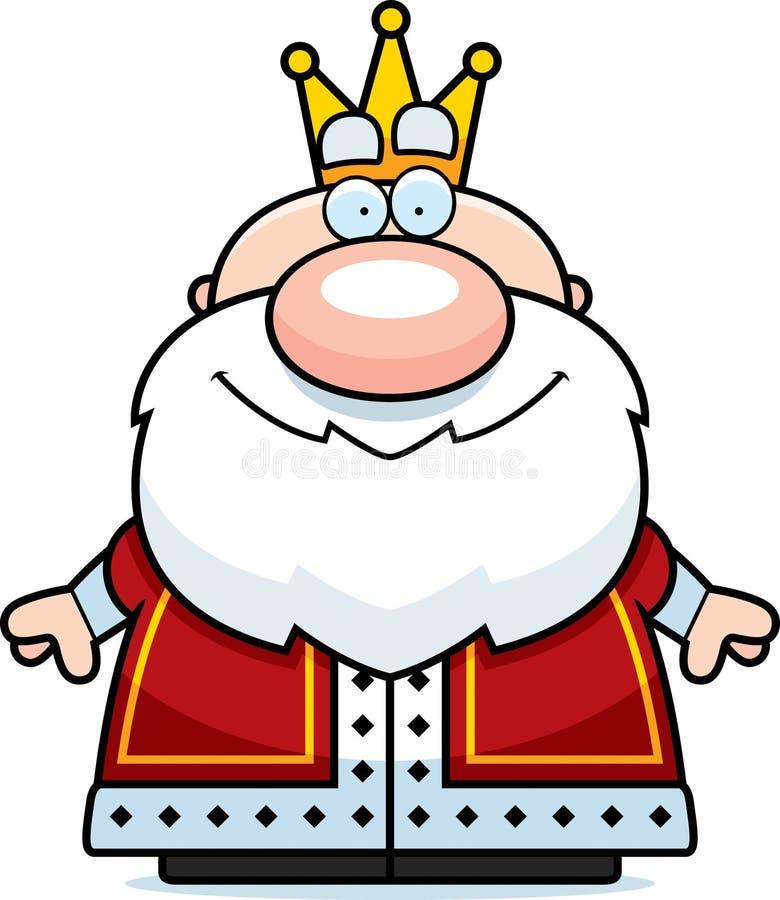 动画片Smiling国王 向量例证