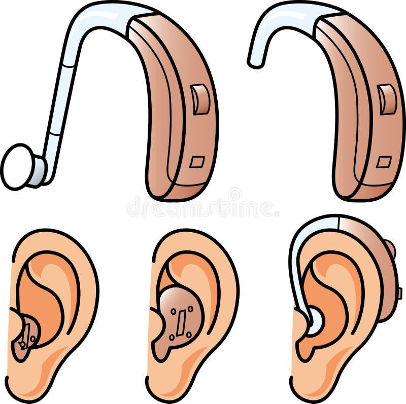 助听器 库存例证