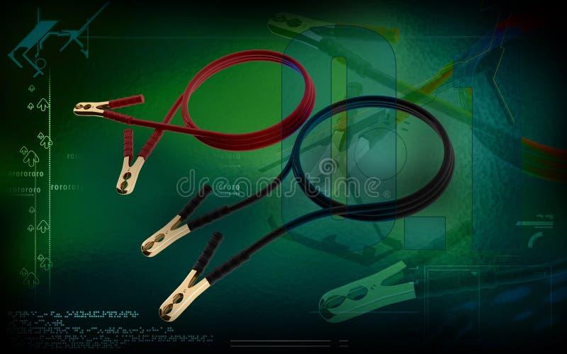 助推器缆绳 向量例证