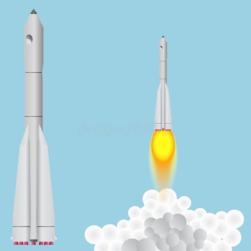 助推器联合 太空火箭上涨 库存例证