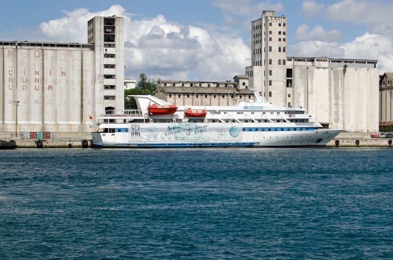 援助船Mavi马尔马拉,伊斯坦布尔 免版税库存图片