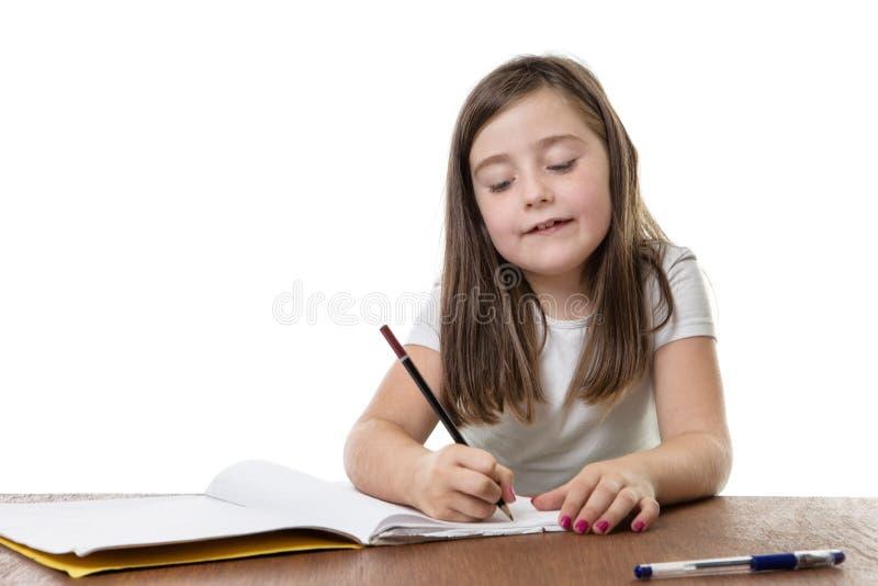 努力学习在学校 免版税库存图片
