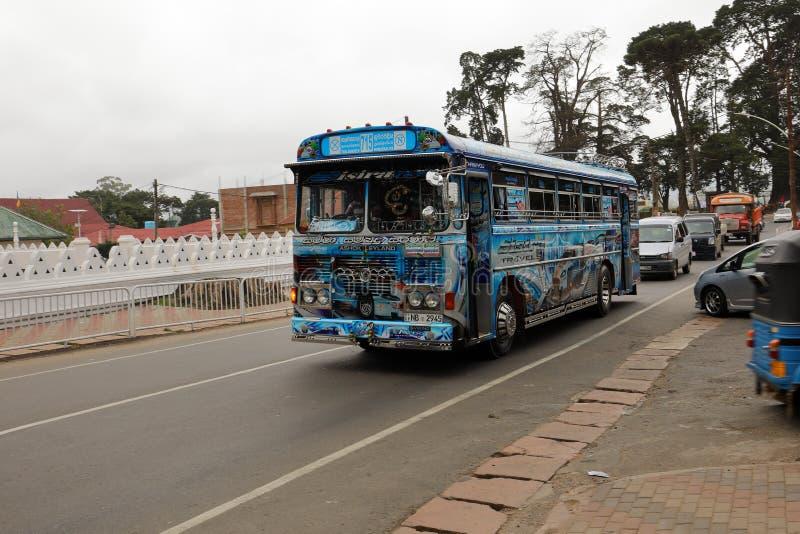 努沃勒埃利耶的汽车站在斯里兰卡 免版税库存照片