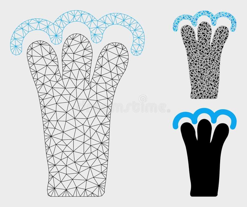 劫掠姿态传染媒介滤网第2个模型和三角马赛克象 库存例证