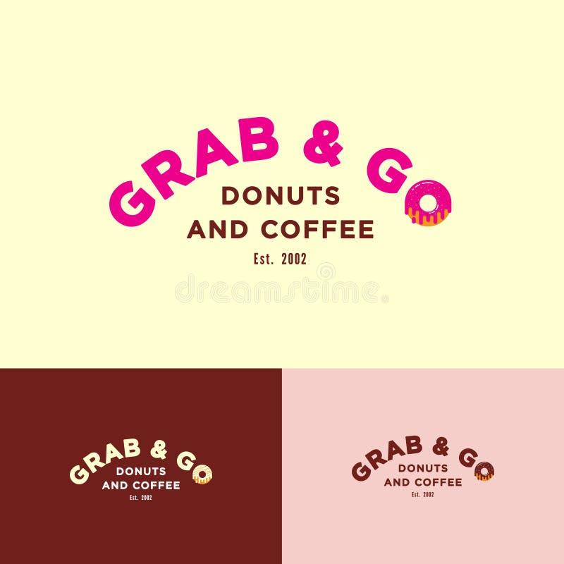 劫掠并且去商标 在象多福饼的O上写字用奶油色和小糖果 向量例证