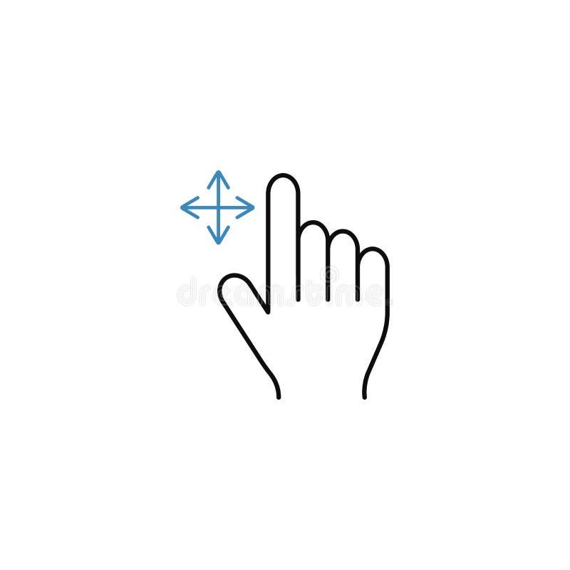 劫掠手指线象,接触手势 向量例证